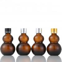 Buy cheap Brown Glass Bottles Containers High Sealing Performance Amber Gourd Shape from wholesalers