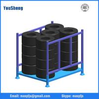 Stackable folding truck tyre storage rack wholesale from China