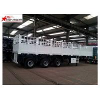 Buy cheap Bulk Cargo Drawbar Full Trailer With Rail Side Wall And Cargo Fence 26ft 2 Axles from wholesalers