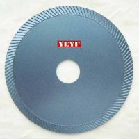 Buy cheap Sintered Diamond Saw Blades Fine Turbo Style for cutting Ceramic Pipe , Kerbs , Fiber Glass from wholesalers