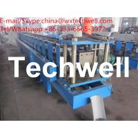 Buy cheap 0.4-0.8mm Material Thickness Half Round Gutter Forming Machine with Cr12 Cutting Blade from wholesalers