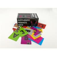 Buy cheap Laminated Type Disturbed Friends Card Game With Different Sizes Black Color product