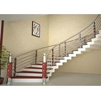 Buy cheap Curved Stainless Steel Railing / Interior Metal Stair Railing Good Horizontal Load Resistance from wholesalers