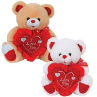 Wholesale Cute Valentines Day Teddy Bear With Flower Heart Stuffed Push Toys from china suppliers