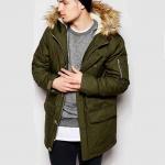 Buy cheap Custom Winter Warm Military Parka Jacket Mens Fleece Lined Bomber Jacket Khaki from wholesalers