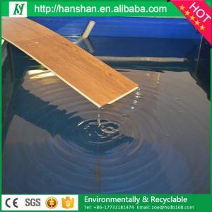 Embossed plastic type vinyl plank flooring with SGS from Hanshan Manufactures