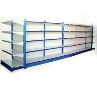 Wholesale Single, Double-sided Customized Wire Shelving Supermarket With Mesh Panel, Adjustable Feet from china suppliers