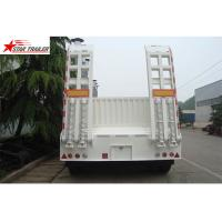 Buy cheap High Point Load Low Flatbed Semi Trailer With Mechanical Suspension from wholesalers