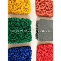 China PVC Coil Outdoor Non - Slip Rubber Mats Double Colorful PVC Mat For Swimming Pool on sale