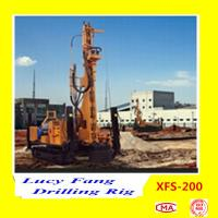 China Hot Multi-function XFS-200 Mobile Hydraulic Foundation CFA Earth Auger Drilling Rig Manufactures