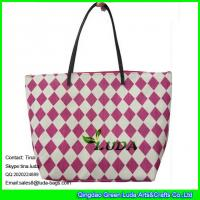 Buy cheap LUDA red beach women handbags paper straw fashion bags from wholesalers
