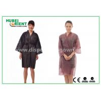 Buy cheap Breathable Disposable Kimono Robe Nonwoven Sauna Gown / Bathrobe Beauty Center Using from wholesalers