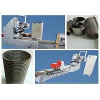 Ball Screw Wrapped Wedge Wire Mesh Making Machine With Lock Expanding Ring