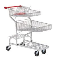 Buy cheap PU wheel Supermarket Shopping Trolleys on wheels Warehouse Series HBE-W-17 from wholesalers
