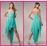 Buy cheap Evening Party Gown Short Long Homecoming Dresses With Peacock Chiffon Short Beading from wholesalers