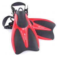 Buy cheap Red Black Skin Diving Fins Swimming Training with Open Heel Design from wholesalers