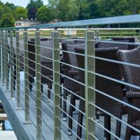 Wholesale Premade handrails for deck stairs with stainless steel structure from china suppliers