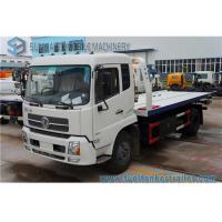 Buy cheap Dongfeng Tianjin 6 Ton Rescue Tow Truck , flatbed Wrecker Truck 180 Hp Cummins Engine from wholesalers
