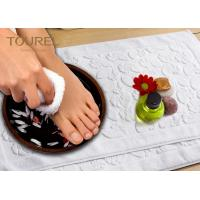 Buy cheap Prasied Jacquard Jacquard Bath Mat White Color With Embossed Logo from wholesalers