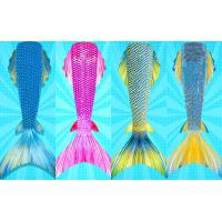 Buy cheap Flexible Ladies Mermaid Tail , Mermaid Tail Swimsuit Adult With Side Fins from wholesalers