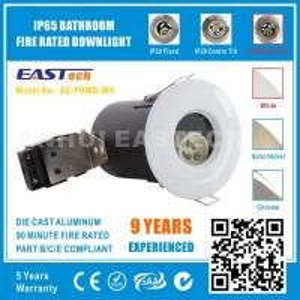 MR16 GU10 Aluminium Bathroom IP65 Fire Rated Downlight Fittings - White Color