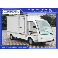 China White Electric Delivery Van , 2 Person Golf Cart With MP3 Player Sound System on sale