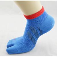 China Organic Cotton Knit Blue Men's Athletic Two Toe Socks With Asia Europe Size on sale