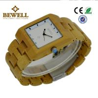 Bamboo Men / Women Wooden Wrist Watch With Japanese 2035 Movement , OEM ODM Service Manufactures