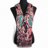 Wholesale Fashionable Scarf, Available in Various Designs, Made of 45% Viscose and 55% Acrylic from china suppliers