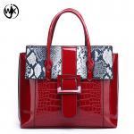 Buy cheap New designer wholesale guangzhou handbag handmade women large tote bag snake handbag red from wholesalers
