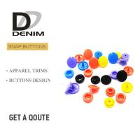 Buy cheap Plastic Snap Fastener Buttons Fashion Colorful Childhood Lead Free from wholesalers