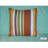 Buy cheap Small Brown Stripe Plain Custom Decorative Pillows for Bed from wholesalers