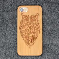 Buy cheap Bamboo Carved Cell Phone Cases / Mobile Shell Accessories for iPhone X 8 7 6 from wholesalers
