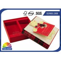 Buy cheap Greeting Gift Cards Decorated Custom Paper Gift Box Packaging Rigid For Christmas from wholesalers