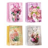 Buy cheap Valentine day flower pattern designs Paper Shopping Bags from wholesalers