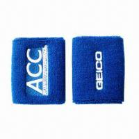 Buy cheap Sports Sweat Cotton Wristband/Cotton Band, Customized Sizes are Accepted from wholesalers