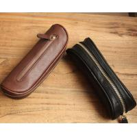 Buy cheap Vintage Genuine Leather Pencil Case , Handmade Artist Pencil Bag High End from wholesalers