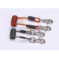 Quality Double Colors Coil Tool Lanyard 5.0 * 50MM Safety With Zinc Alloy Swivel Snap Hooks for sale