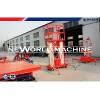 Buy cheap 2.2kw 300kg Mobile Aerial Work Platform Electrical Four Man Lift Platform product