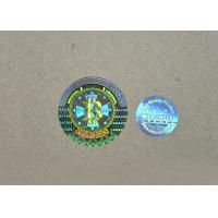 Buy cheap QC Passed Transparent Hologram Stickers , Multi Color Hologram Security Labels from wholesalers
