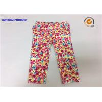 Buy cheap Chrysanthemum Water Ink Baby Girl Printed Leggings With 95% Cotton 5% Spandex from wholesalers
