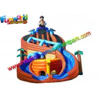 Buy cheap Shipwreck Pirate Outdoor Inflatable Water Slides  , Inflatable Water Pool Slides With Tree from wholesalers