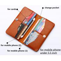 new hot selling mobile phone cover  leather credit wallet flip leather case for iphone samsung lg htc Manufactures