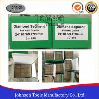Buy cheap 2000mm Sandwich Diamond Segments For Harder Granite  High Efficiency from wholesalers