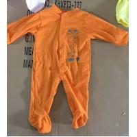 Buy cheap children's embroidered pattern apparel stocklot 3~12M Infant assorted botton-up solid color One piece  cotton rompers from wholesalers