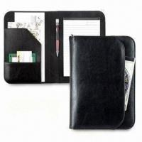 Wholesale Portfolio, Made of Simulated Leather, Measures 9.75 x 6.75 x 0.5 Inches, Available in Black from china suppliers
