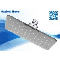 2 Function Grey Abs Square Bath Wall Overhead Shower Head High Efficiency For Home Manufactures