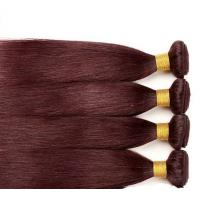 Buy cheap Red Straight Colored Human Hair Extensions Remy Brazilian Hair Weave Double Strong Weft from wholesalers