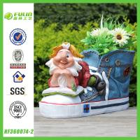 Buy cheap Handmade Gnome Planter Shoe Polyresin Flower Pot from wholesalers