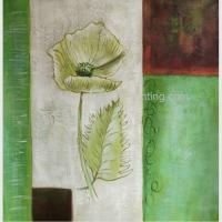 Wholesale Modern Abstract Flower Oil Painting On Canvas , Stretched Canvas Painting For Wall DéCor from china suppliers